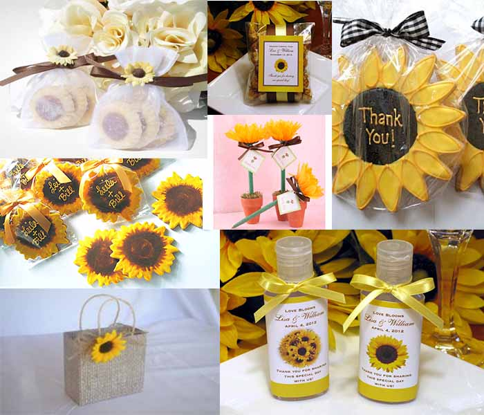 sun flower wedding favors
