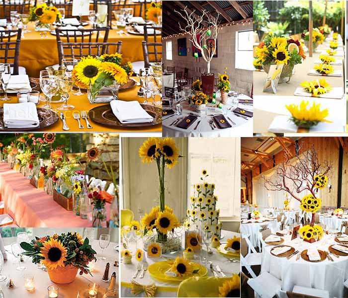 Sunflower wedding flowers archives happyinvitation sunflowers fall wedding centerpieces junglespirit Gallery