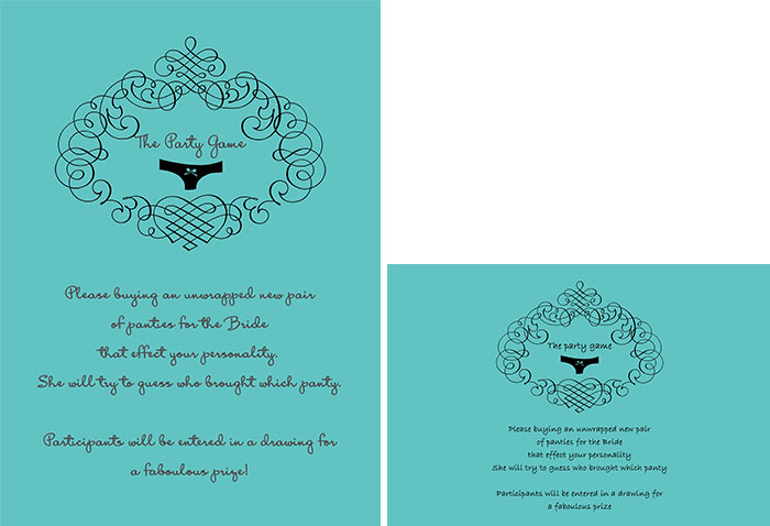 themed bridal shower invitations