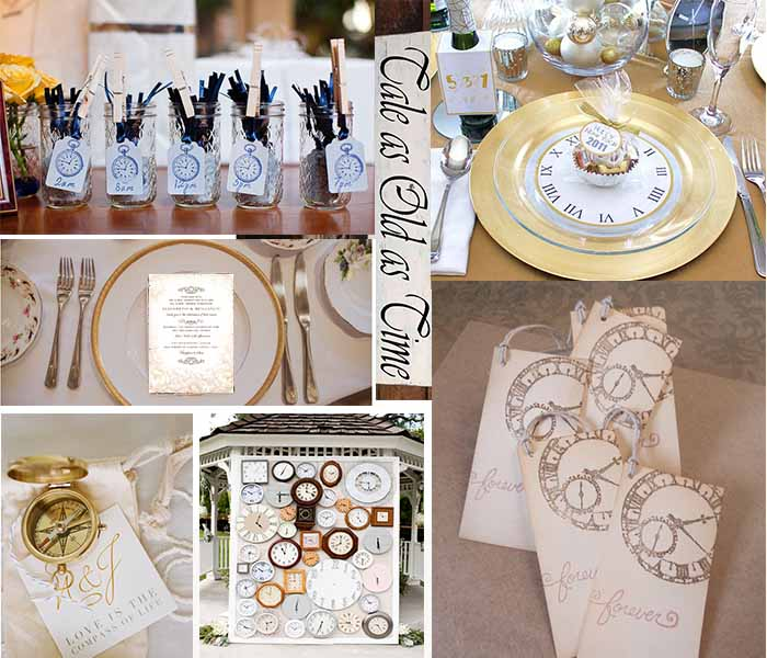 time-themed vintage wedding