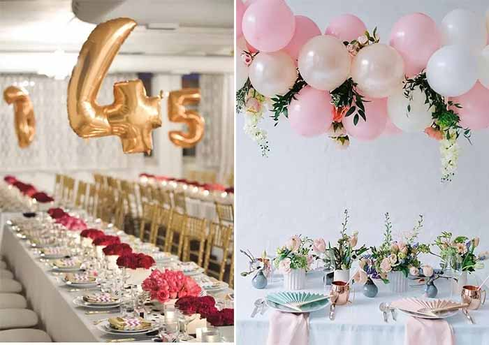 ues balloon decorate your wedding table