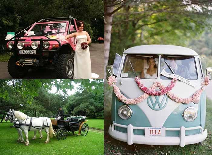 unusual wedding car
