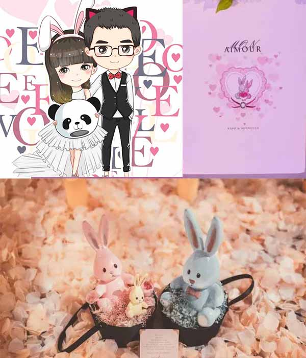 cartoon wedding details