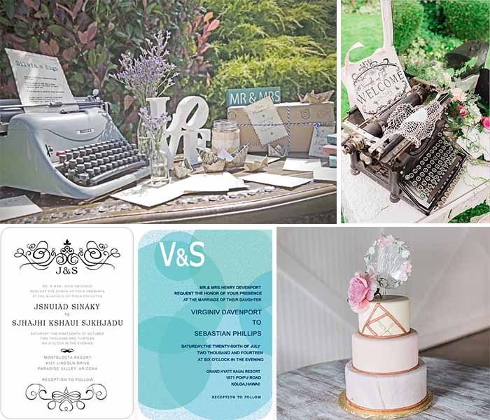 vintage meet modern wedding
