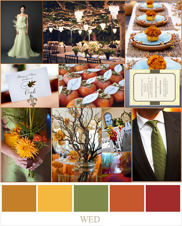 Best Wedding Colors: PERFECT FALL WEDDING COLOR PALETTE IDEAS 2014 TRENDS