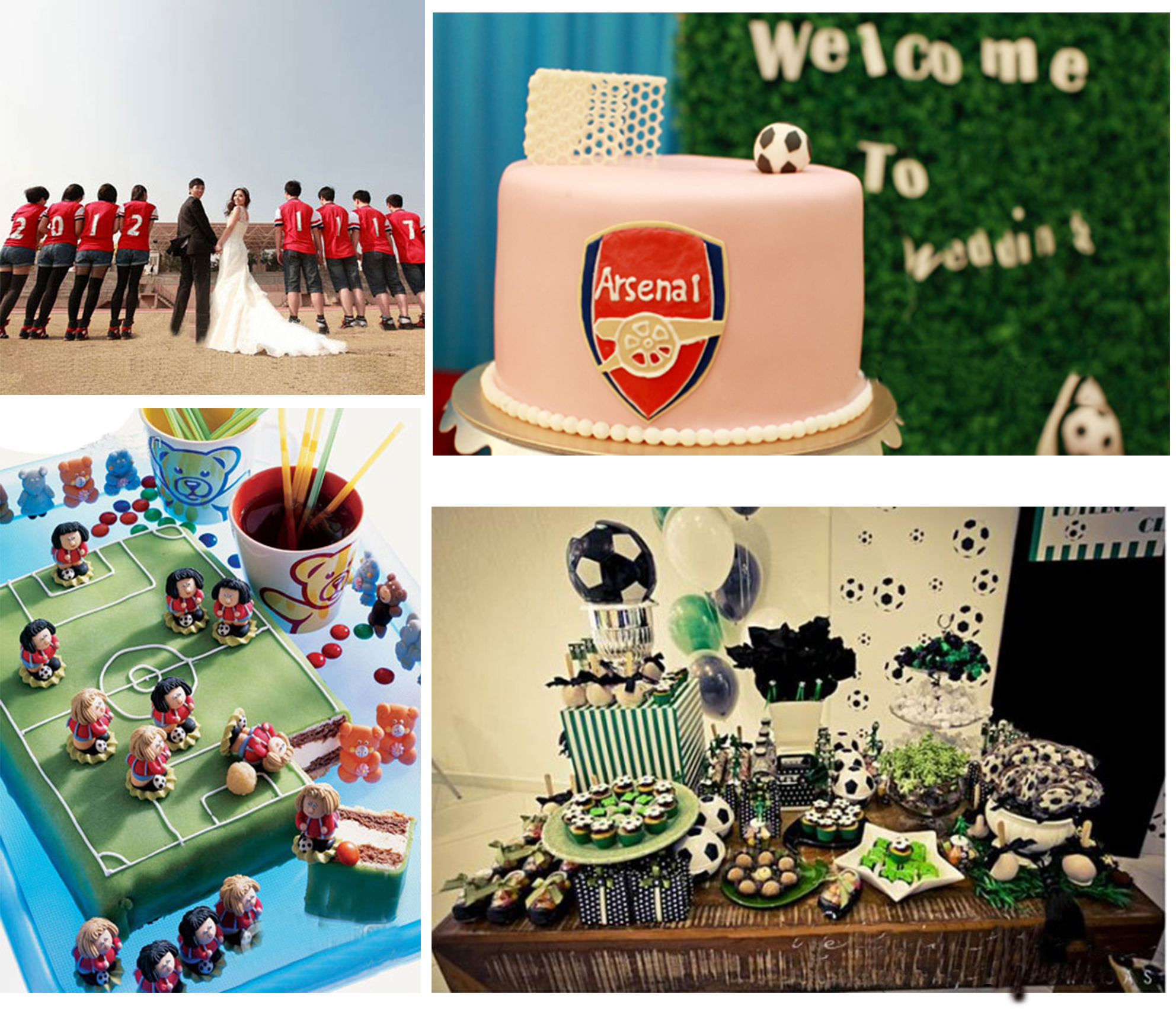 Football themed wedding party archives happyinvitation wedding details of fans of arsena junglespirit Image collections