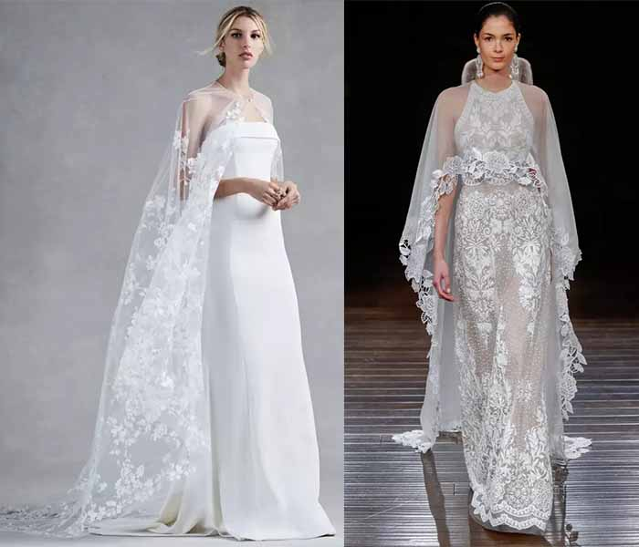 wedding dresses 2017 with cloak
