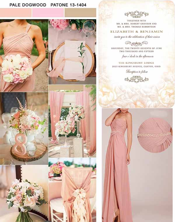 pale dogwood wedding inspirations