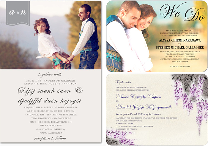 wedding invitations for small wedding