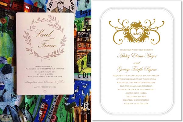 wedding invitations for star war wedding
