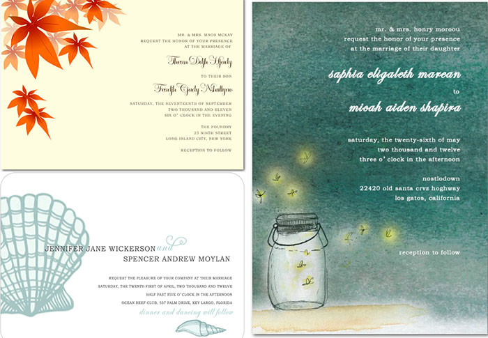 wedding invitations on Happyinvitation