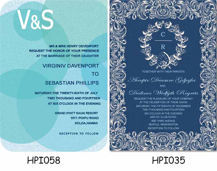 wedding invitations with acronyms
