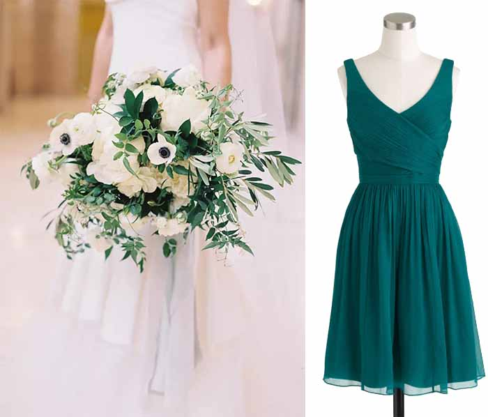 white and green wedding color combos