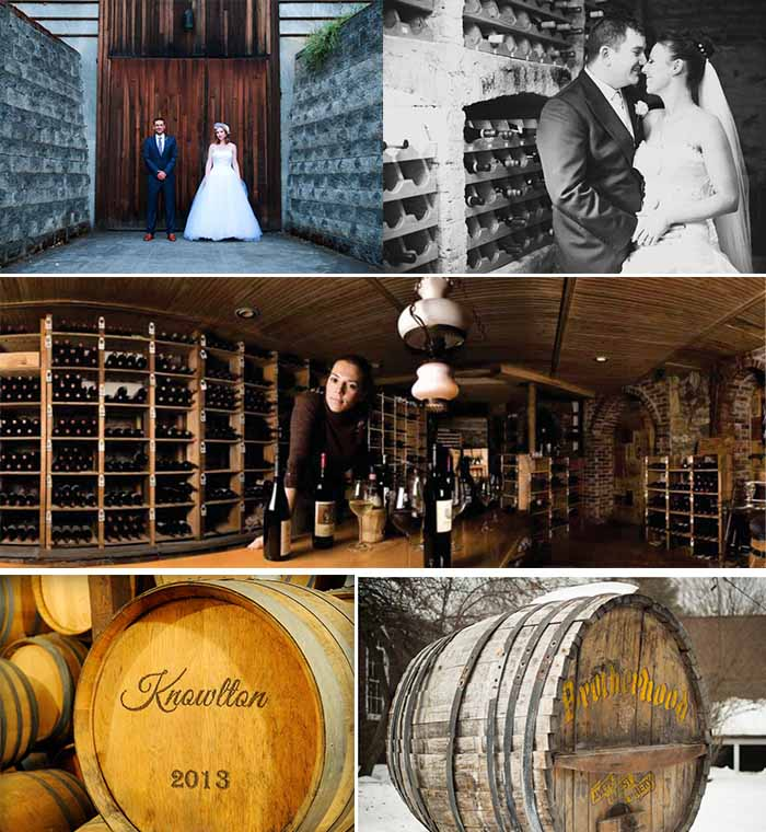 wine winter wedding themed