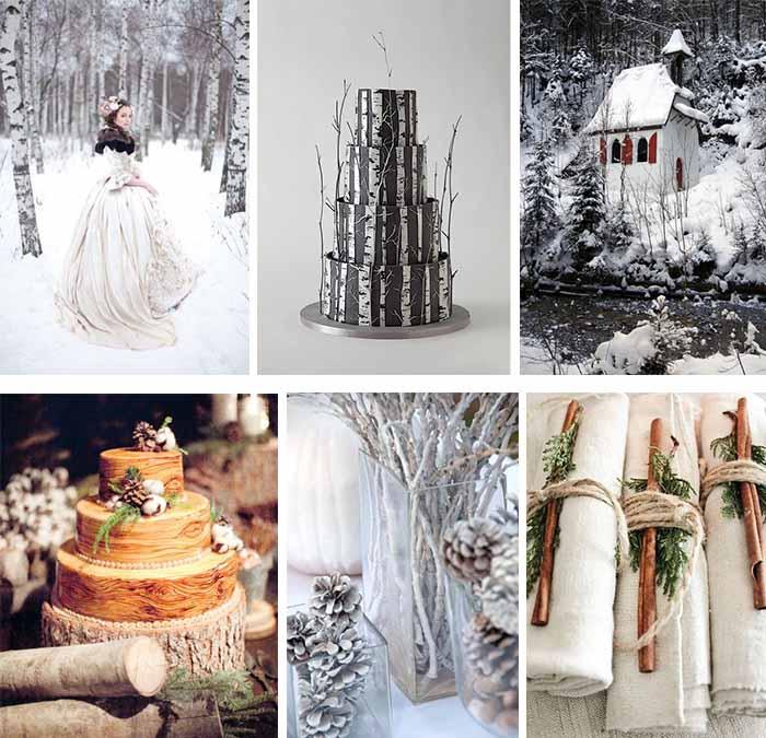 winter wood themed wedding