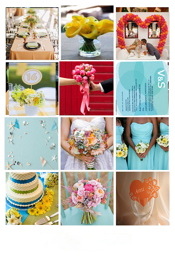canary yellow teal fuchsia marigold wedding color archives