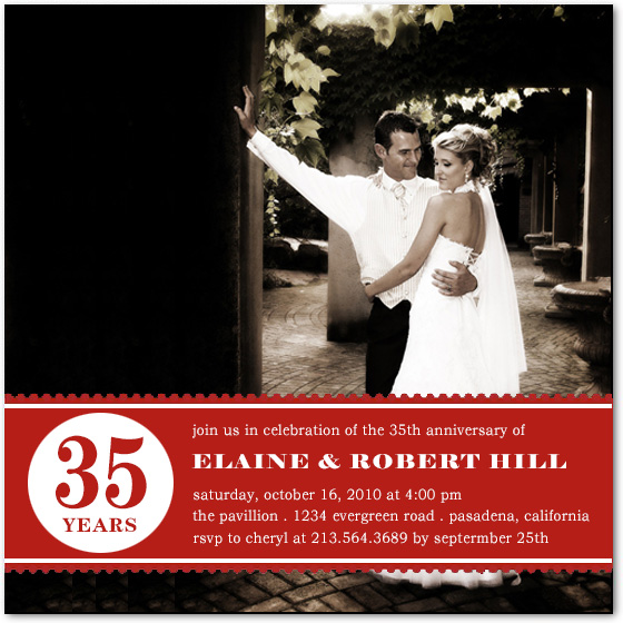 Wedding photo Anniversary Invitation Cards HPA193