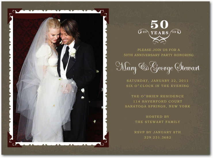 Wedding Photo Frame Anniversary Celebrate Invitations HPA196