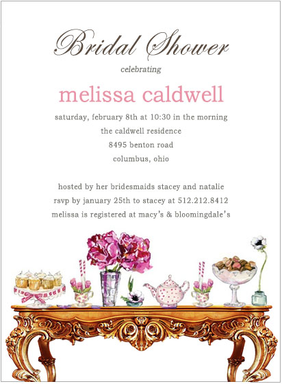 Colorful Wedding Table Drecor Bridal Shower Invitations HPB102