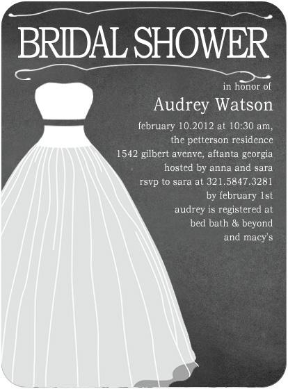 Black Couture Bridal Shower Invitation Cards HPB120