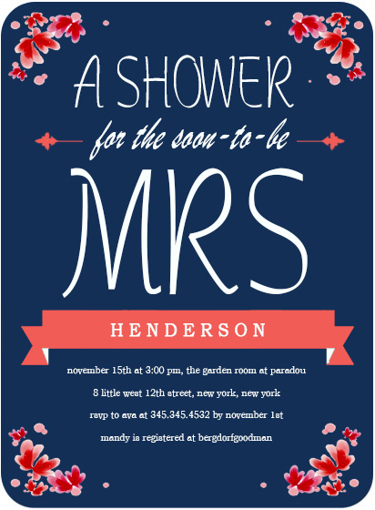 The Soon To Be Mrs Bridal Shower Invitation HPB131