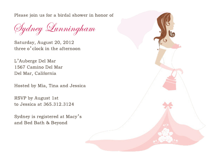 Bridal shower invitations online cheap cute dress cartoon bridal shower invitations hpb149 filmwisefo Choice Image