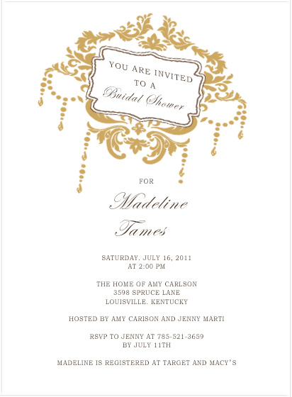 Leans Board Arounded By Leaves Bridal Shower Invitations HPB162