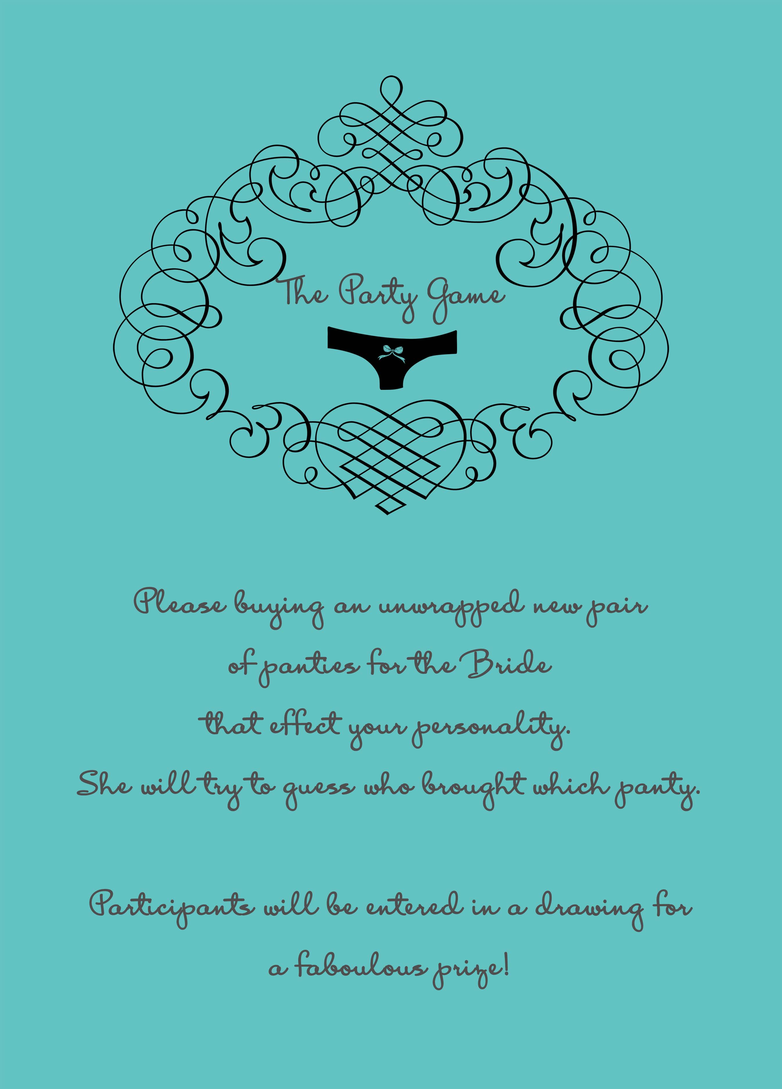 Sexy Panties Themed Bridal Shower Invitations HPB276