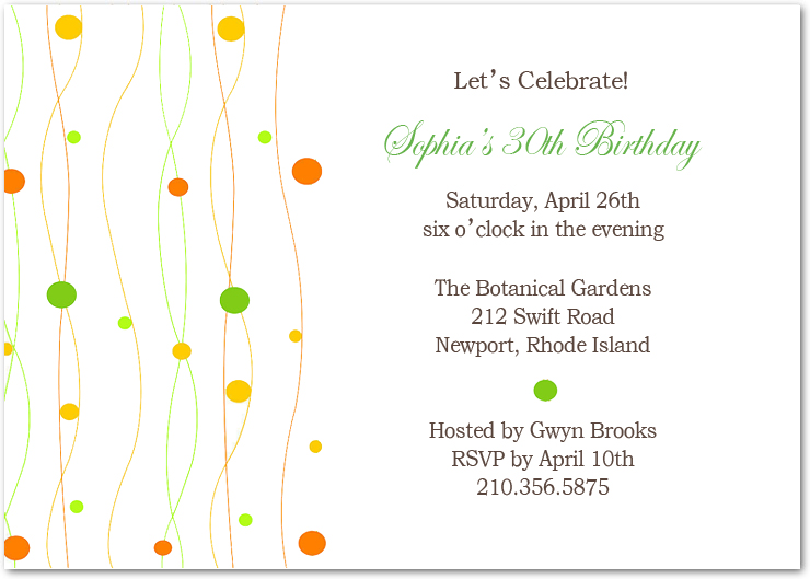 Aquatic Plant And Bubble Birthday Invitation Cards HPBP177