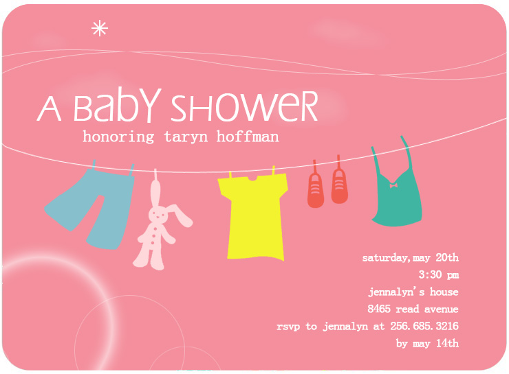 Watermelon Laundry Baby Shower Card HPBS222