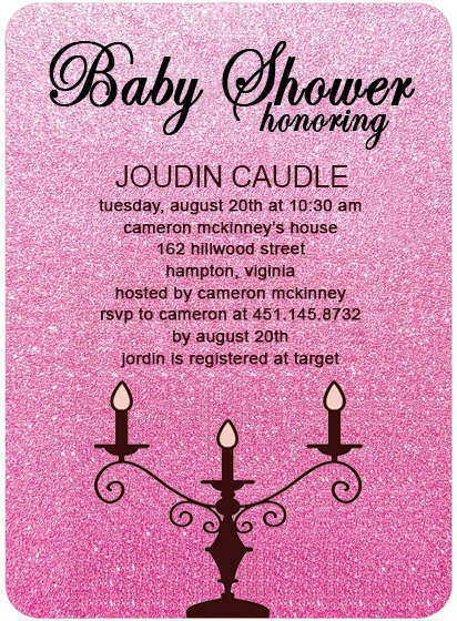 Candlestick Baby Shower Invitations HPBS228