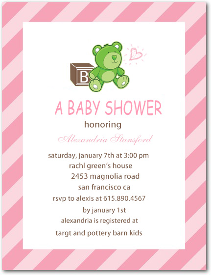 Bear Toys Baby Shower Invites Cards HPBS235
