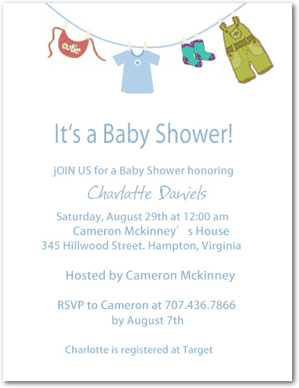 Baby Dressing Show Baby Shower Invitation Card HPBS252