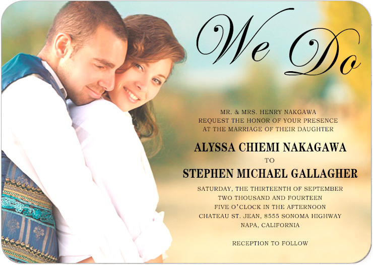 Stunning Romantic Photo Wedding Cards HPI004