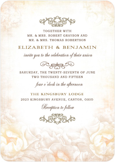 Flower Appear Indistinctly Iron Wedding Invitations HPI013