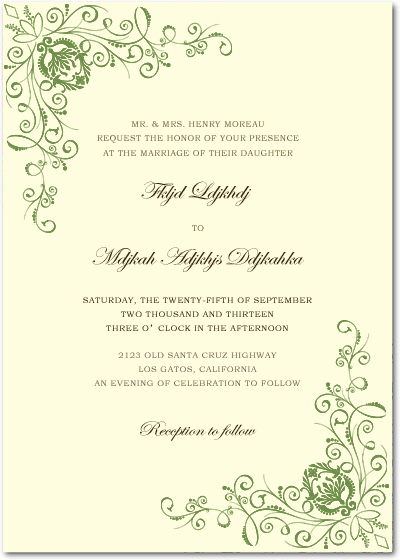 Green Animate Parasites Wedding Invitations HPI021