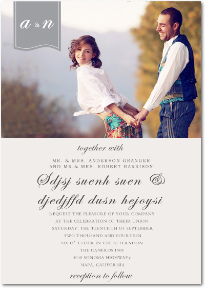 Romantic Afternoon Sunshine Wedding Invitation Card HPI028