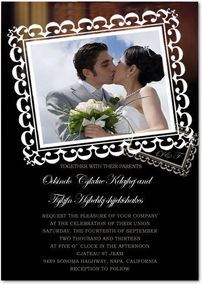 Stamp Photo Masterpiece Wedding Invitation Card HPI029