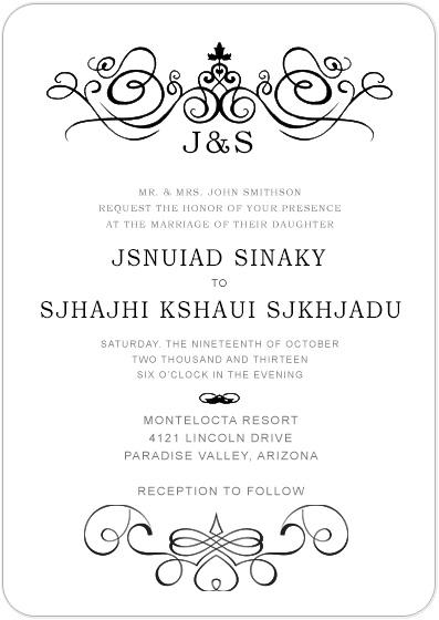 Candlestick Stick Figure Wedding Invitation Cards Hpi030
