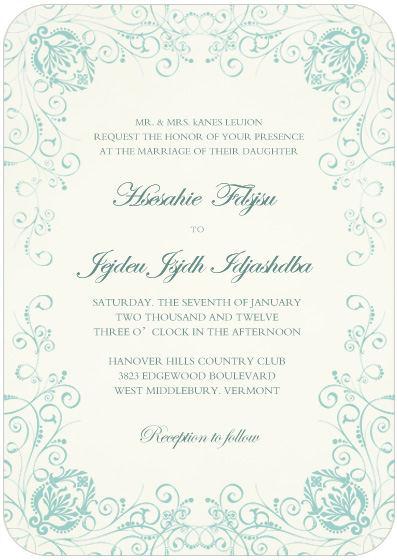 Mass Of Blossom Wedding Invitation Card HPI031