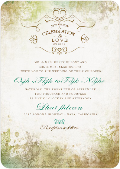 Cheap Affordable Fall Wedding Invitations Happyinvitation