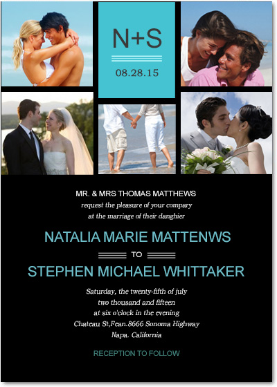 Sunshine Beach Photo Wedding Invitations HPI047
