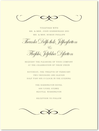 Windswept symmetrical Wedding Celebration Invitations HPI048