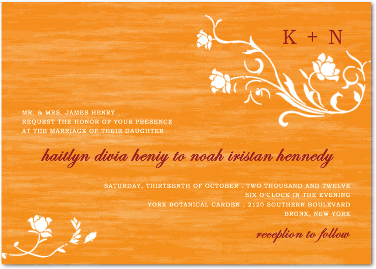Natural Floral Bright Wedding Celebration Invitations HPI049