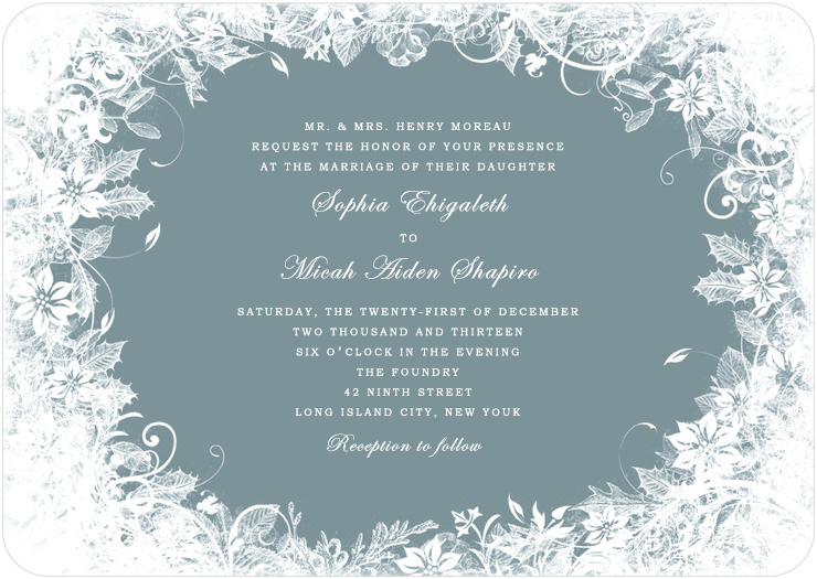 Enchanted Vines plants Circle Wedding Invitations HPI055