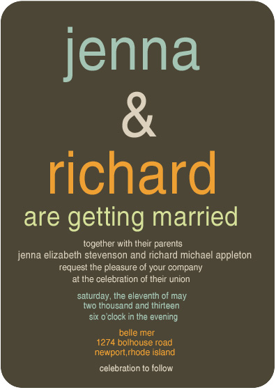 Simple Title Wedding Invitation Cards HPI061 HPI061