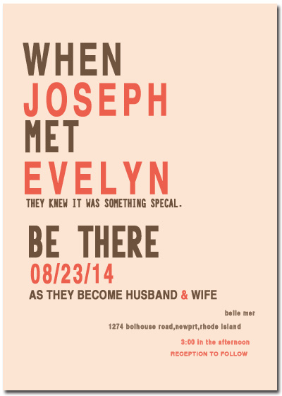 Bold Fonts Layout Wedding Invitation Cards HPI062