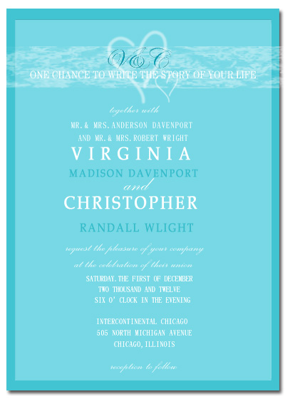 Heaven Of Double Heart Wedding Invitation Card HPI065