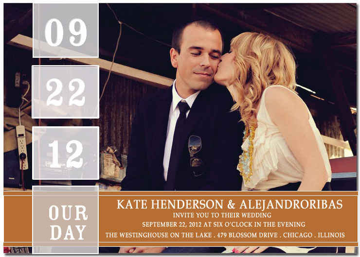 Big Day Date Photo Wedding Invitation Card HPI066