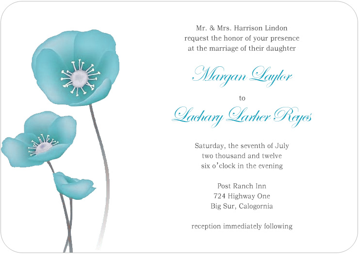 Lively Watercolor Lotus Flower Wedding Invites HPI073